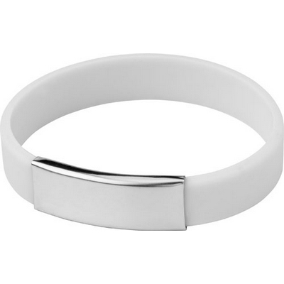 Picture of Silicone wristband with metal plate.