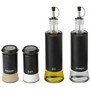 Glass oil / vinegar and salt / pepper set