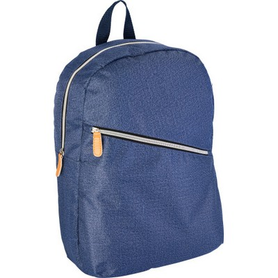Picture of Polyester laptop backpack in denim look
