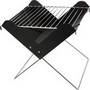 Foldable barbecue grill.
