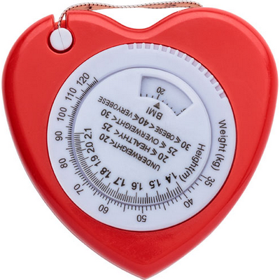Picture of Plastic, 1.5 mt, heart shaped, BMI tape measure