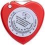 Plastic, 1.5 mt, heart shaped, BMI tape measure