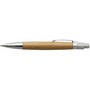 Bamboo ballpen with metal clip.
