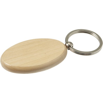 Picture of Oval wooden key holder with metal ring