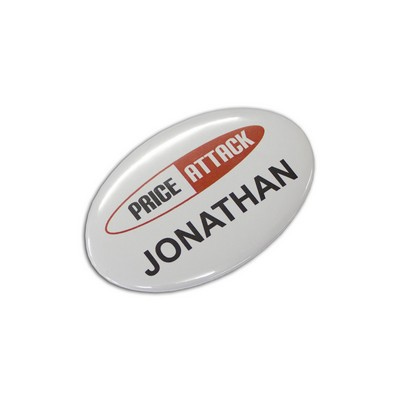 Picture of Button Badge Oval - 65 x 45mm