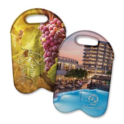Picture of Neoprene Double Wine Cooler Bag - Full Colour