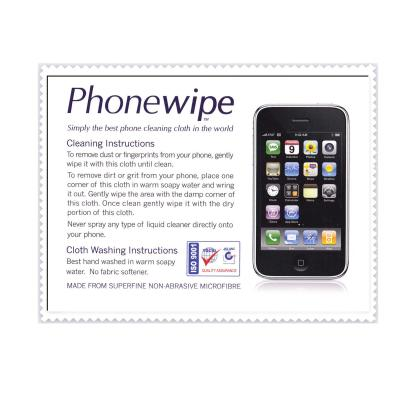 Picture of Phonewipe in Cellophane with Backing CardPhonewipe
