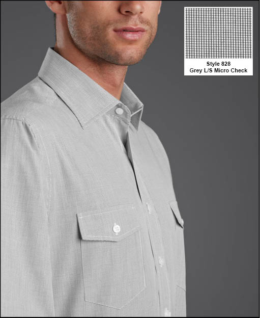 Picture of Double Pocket Micro Check Shirt