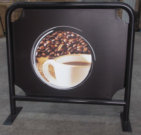Picture of Cafe Barrier 1000mm with printed banner