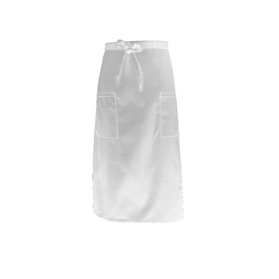 Picture of White Two Pocket 3/4 Apron