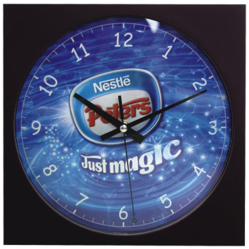 """Picture of 10"""" Square Wall Clock - Resin case"""