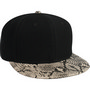 SIX PANEL SNAKESKIN CAP