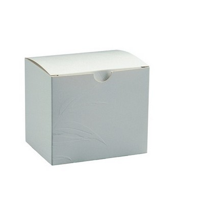 Picture of Embossed Leaf Box 1 Pack White