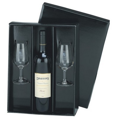 Picture of Wine Gift Set Black Gloss