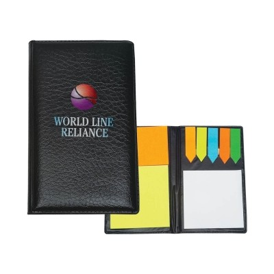 Picture of Leather Look Padfolio With Sticky Notes