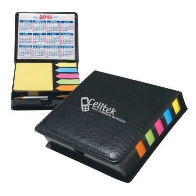 Picture of Square Leather Look Case Of Sticky Notes