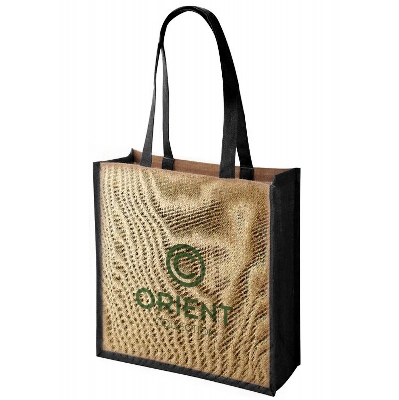 Picture of Large Jute Tote Bag With Gussett