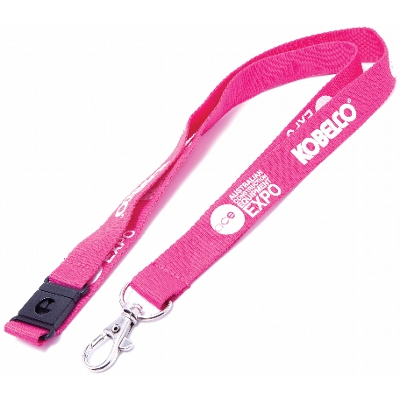 Picture of Flat Ribbed Lanyard With Swivel Clip