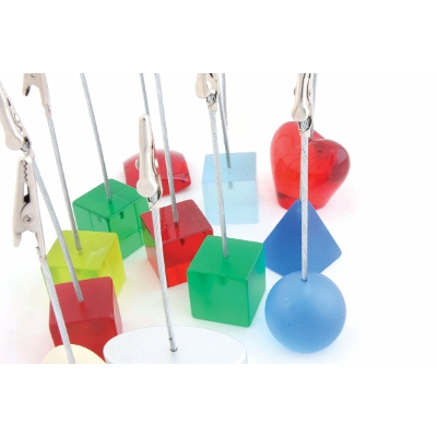 Picture of Coloured Shapes Memo Holders