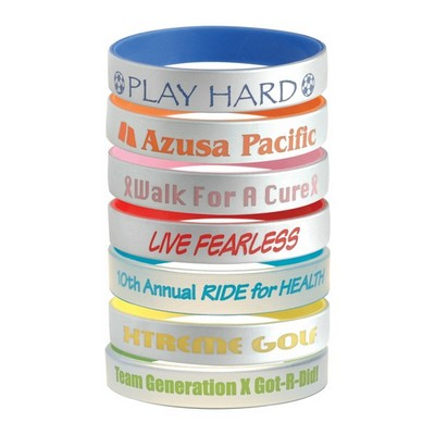 Picture of Silver Silicone Bracelets