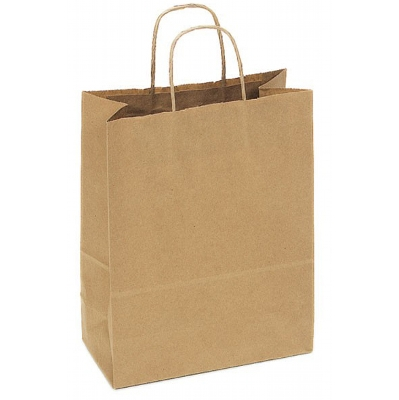 Picture of Kraft Paper Bag Medium Includes Twisted