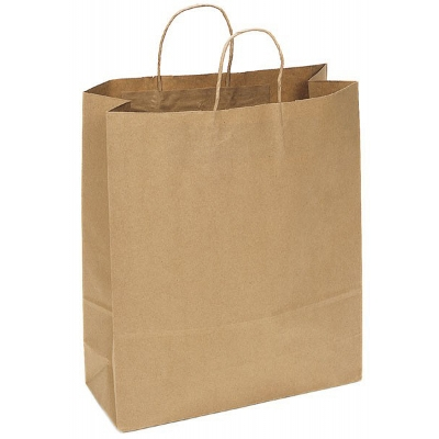 Picture of Kraft Paper Bag Extra Large Includes Twi