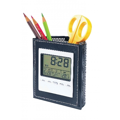 Picture of Lcd Clock With Pen Holder