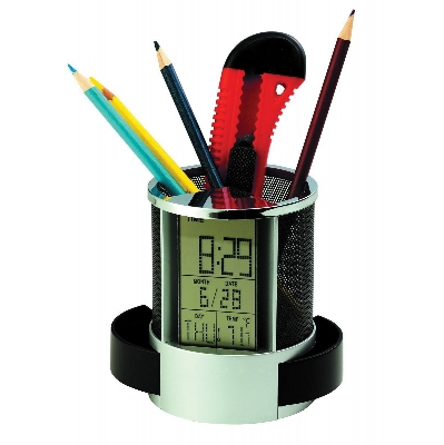 Picture of Multifunction Clock With Pen Holder