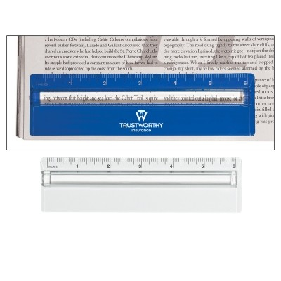 Picture of Plastic 6 inch Ruler With Magnifying Gla