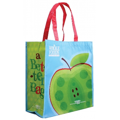 Picture of Orange Laminated Tote Bag