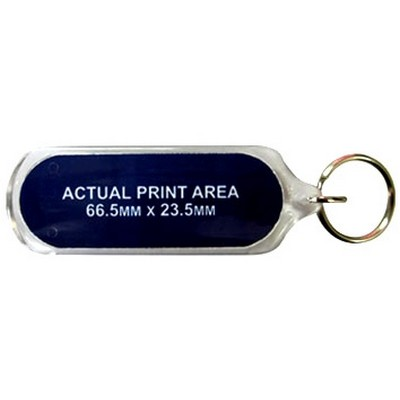 Picture of Acrylic Keyrings 70x25mm