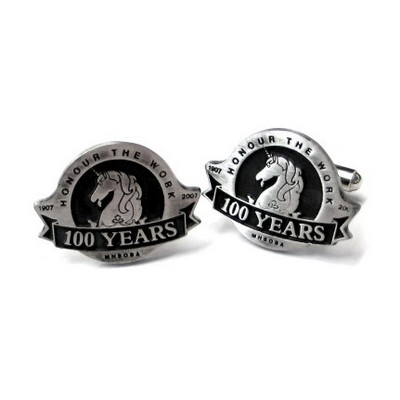 Picture of Polished Pewter Cufflink