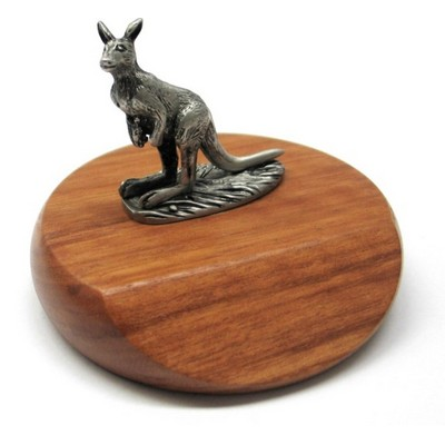 Picture of Kangaroo mounted on Jarrah Base