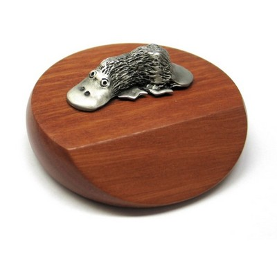Picture of Platypus mounted on wooded base