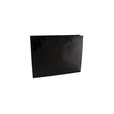 Picture of Large Boutique Black Gloss Paper Bag