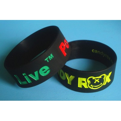 Picture of Silicone Wristband 25mm Debossed and Ink