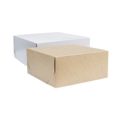 Picture of Large Square Kraft Gift Box Natural or W