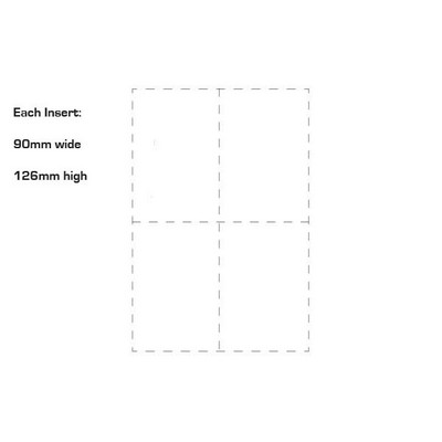 Picture of White Name Tag Inserts 90mm x 126mm Pack
