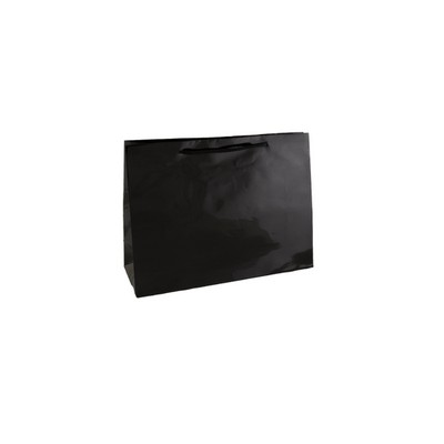 Picture of Gloss Laminated Paper Bag Black Small Bo