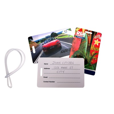 Picture of Writable Plastic Luggage Tag Indent