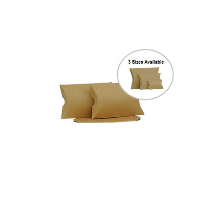 Picture of Small Brown Kraft Pillow Box Printed