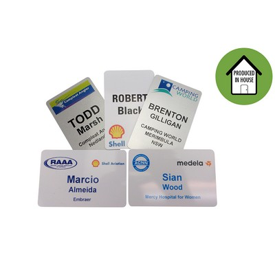 Picture of Deluxe Plastic Small Name Tag Gloss