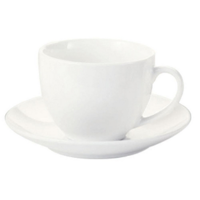 Picture of White Basics Cup & Saucer - White