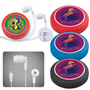 Earphone / Headphone Set in Silicone Casewith Cord Retainer