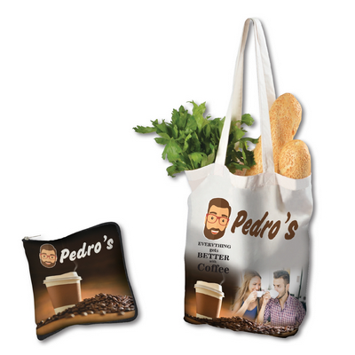 Picture of Cotton Folding Shopping Bag with Full
