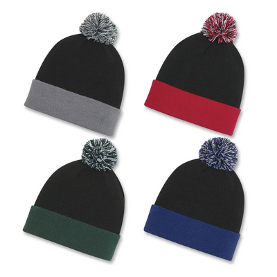 Picture of Knit Pom Cuff Beanie