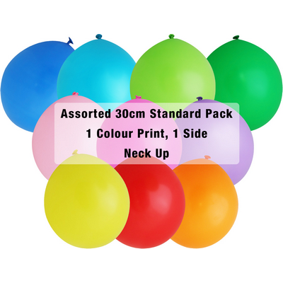 Picture of 30cm Standard Balloon - Neck Up - Assort