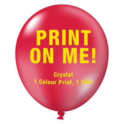 Picture of 30cm Crystal Balloon - Neck Down - Chill