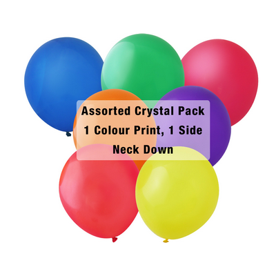 Picture of 30cm Crystal Balloon - Neck Down - Assor