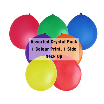 Picture of 30cm Crystal Balloon - Neck Up - AssortedBalloons